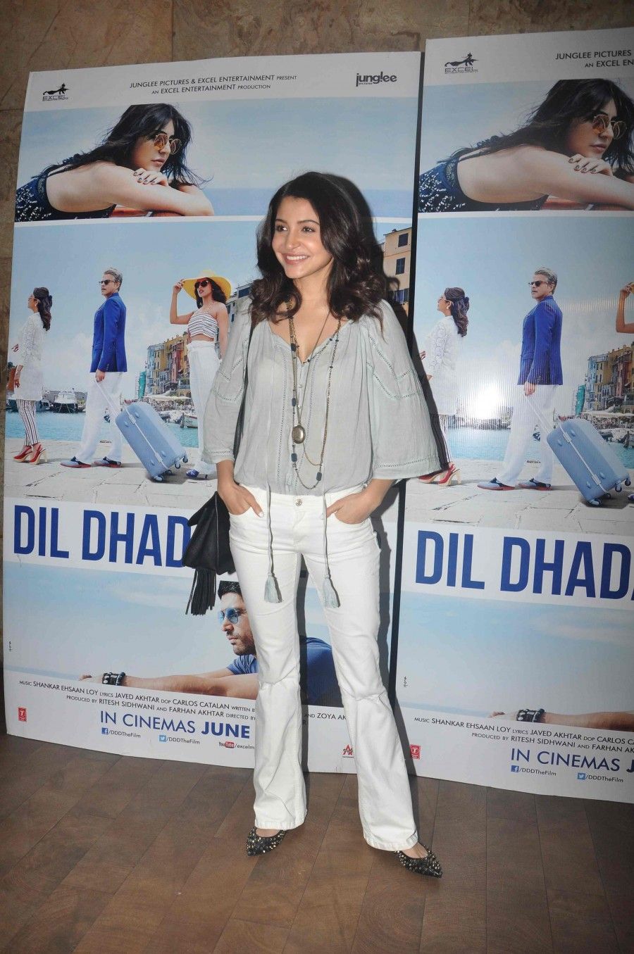 Anushka Sharma attending the special screening of 'Dil Dhadakne Do'.