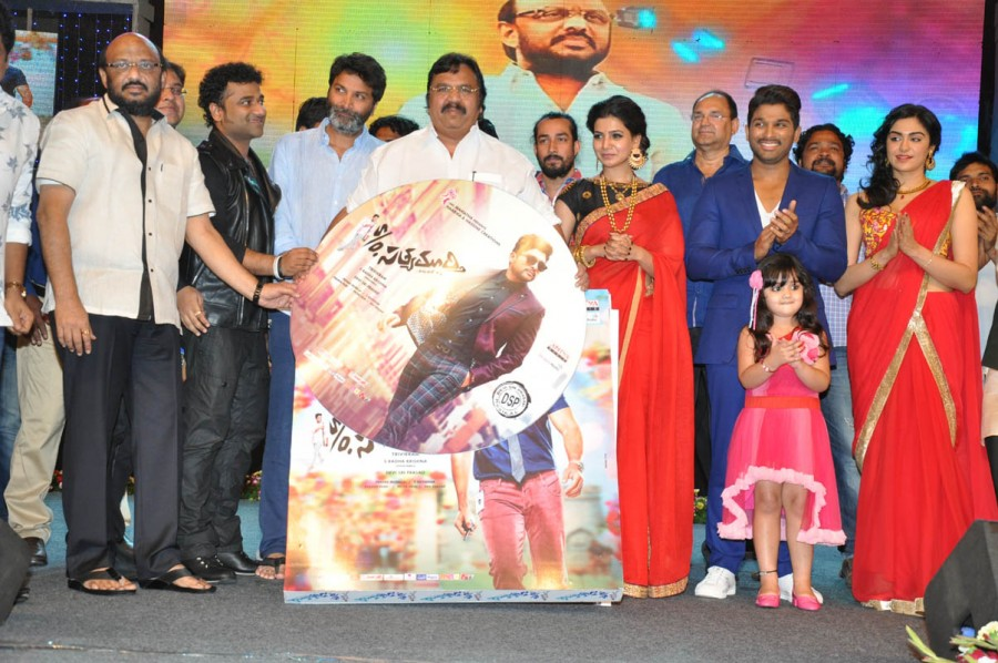 S/O Satyamurthy,allu arjun,S/O Satyamurthy audio launch,Samantha Ruth Prabhu,sneha,Audio launch photos