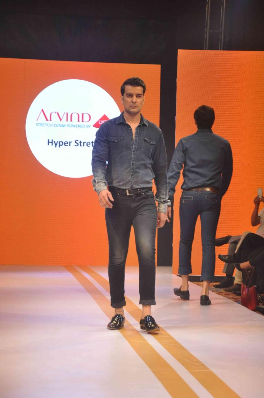 Denim festive show,ramp,fashion show,mumbai,Arvind Ltd,photos
