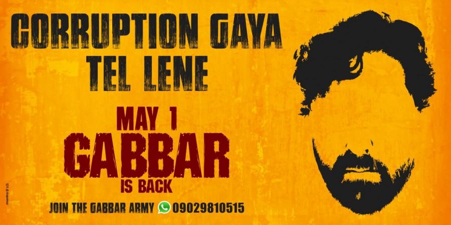 'Gabbar is Back' promotions in Mumbai.