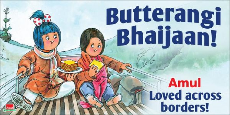 #BajrangiBhaijaan,salman khan,Amul Ad,Amul poster,Amul Bajrangi Bhaijann Ad,#Amul,bajrangi bhaijaan poster