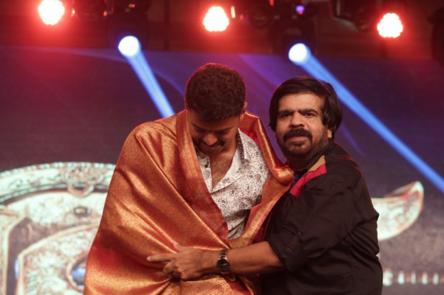 T Rajendar at Vijay's Puli Music Launch,T Rajendar,actor T Rajendar,Vijay Puli Music Launch,Puli Music Launch,Puli Audio Launch,T Rajendar latest pics,T Rajendar latest images,T Rajendar stills