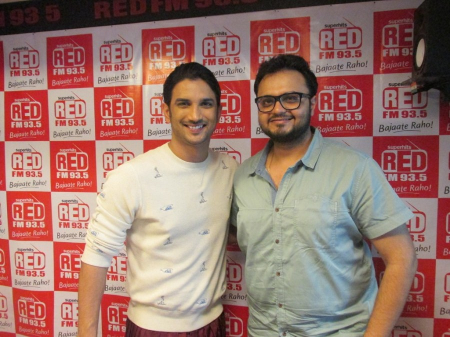 Sushant Singh Rajput,Detective Byomkesh Bakshy,upcoming film,Red FM studio,film promotion,photos