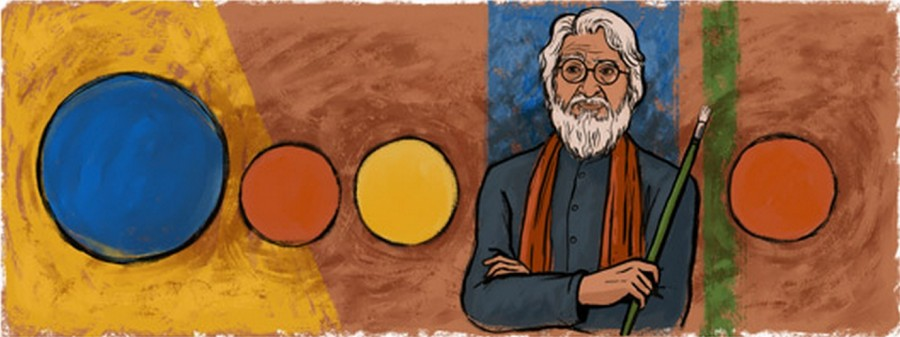 Mf husain,Maqbool Fida Husain,google doodle,picasso of india,100th birthday,centenary birthday,mf husain paintings