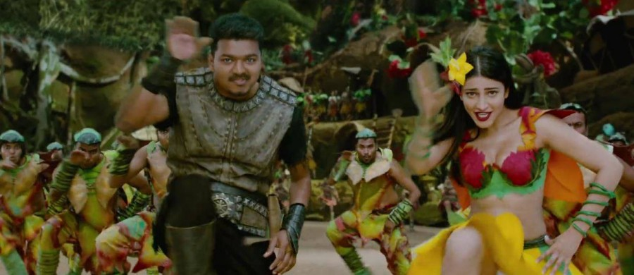 Vijay,Hansika Motwani,Vijay and Hansika Motwani,ilayathalapathy vijay,Puli,Puli movie stills,Puli movie pics,Puli movie images,Puli movie photos,vijay in puli movie,hansika motwani in puli movie