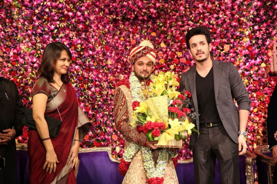Saif Khalid Shareef Wedding,Saif Khalid Shareef,Akkineni Amala,Akhil,Venkatesh,Manchu Lakshmi,Allu Aravind,Manchu Manoj's family,Chota K Naidu