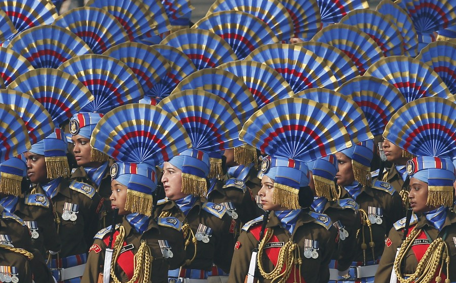 Republic Day,Republic Day Parade,Republic Day Parade 2016,Republic Day 2016,French Troops Participate,French Troops,Rehearsal,Republic Day Rehearsal