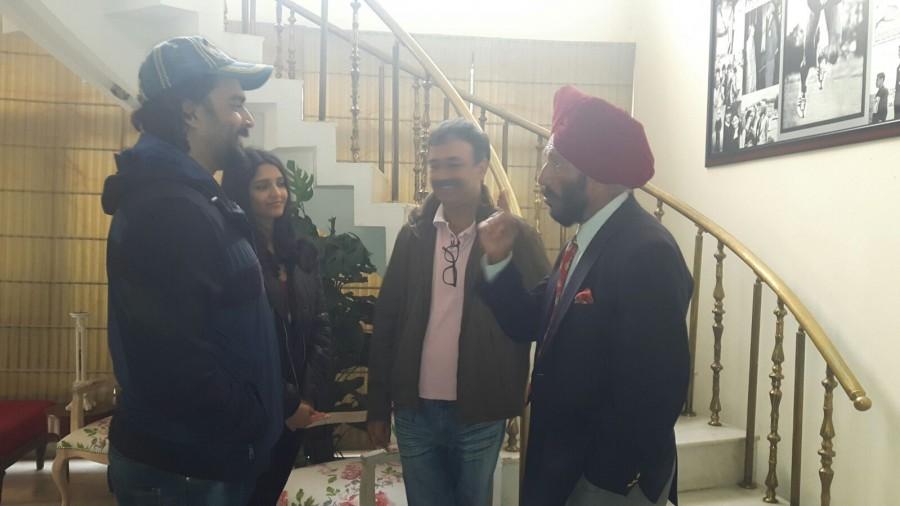 Milkha Singh,Saala Khadoos,team Saala Khadoos,Rajkumar Hirani,Madhavan,Ritika Singh,Saala Khadoos promotion,Bollywood movie Saala Khadoos