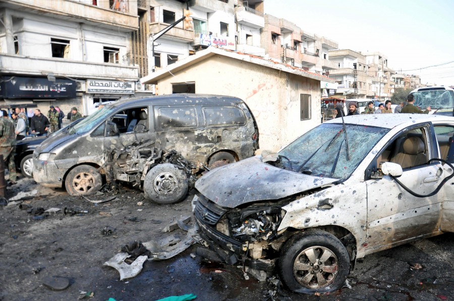 Two bombings rock Syria,Syria,blast in Syria,twin blast in Syria,car-bomb,Syria's central city of Homs,Homs,pro-government district,al-Zahra,Takfiri Daesh terrorist group,Takfiri Daesh