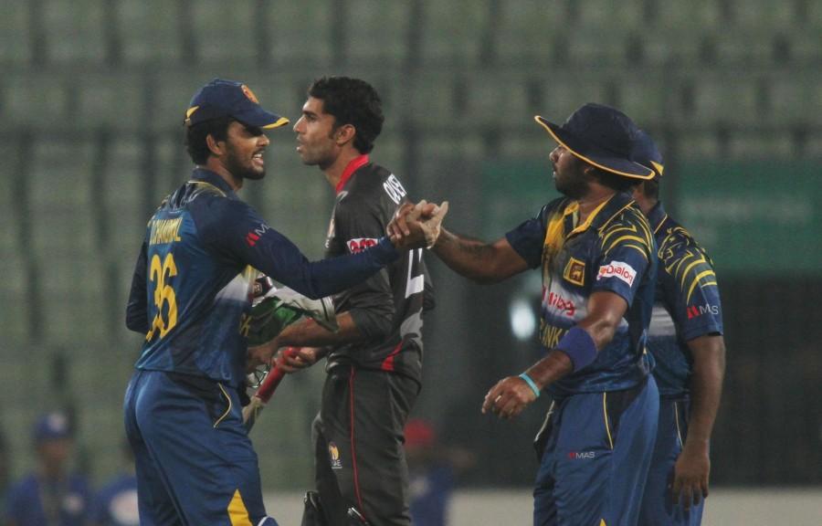 Asia Cup,Asia Cup 2016,Sri Lanka defeat UAE,Sri Lanka defeavs UAE,Sri Lanka vs UAE highlights,Watch Sri Lanka vs UAE T20 live,Sri Lanka vs UAE live,Sher-e-Bangla National Stadium