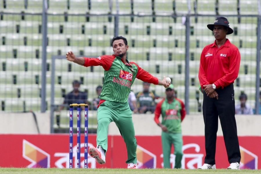 Arafat Sunny,Taskin Ahmed,Taskin and Sunny suspended,Taskin and Sunny,Bangladesh player suspended,World Twenty20 2016,World Twenty20,ICC World Twenty20 India 2016,icc world twenty20,Bangladesh's left-arm spinner Arafat Sunny,Bangladesh's medium