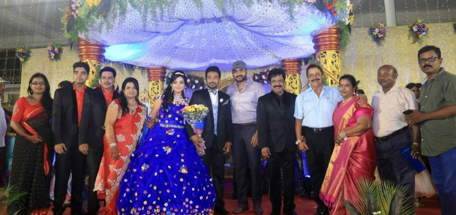 Tamil Actor and Director R. Pandiarajan's son Prithvi Rajan and Akshaya Premnath Wedding Reception held in Chennai.