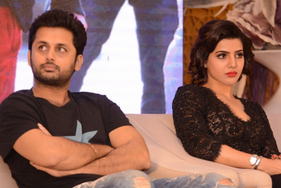 Nithin, Samantha and Trivikram Srinivas at A  Aa success