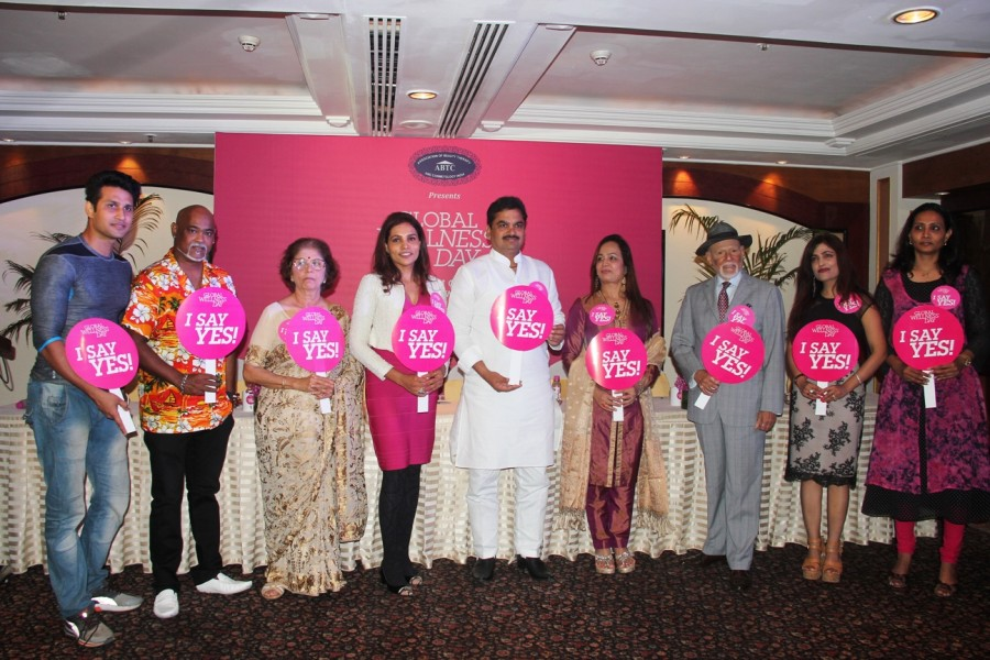 Global Wellness Day event,Vinod Kambli,Ram Shinde,Smita Thackeray,Rekha Chaudhari,Shibani Kashyap,Meghna Shah,Aditya Pratap Singh,Maya Paranjape,Wellness entrepreneurs JC Kapur,Sangram Birje,Seema Gopuskar
