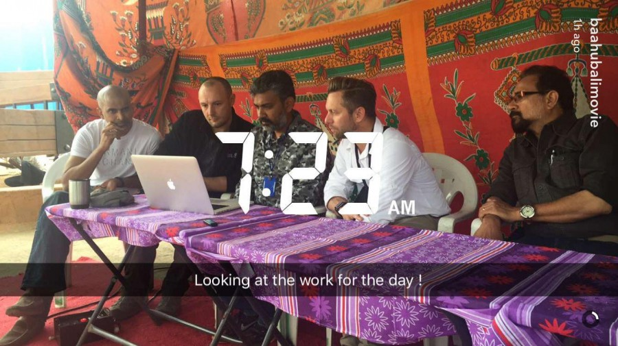Baahubali 2,Baahubali 2 climax,Baahubali 2 shooting,S.S. Rajamouli,Rana Daggubati,prabhas,Tammannaah bhatia,Anushka Shetty,Baahubali 2 shooting pics,Baahubali 2 shooting images,Baahubali 2 shooting photos,Baahubali 2 shooting stills,Baahubali 2 shooting p