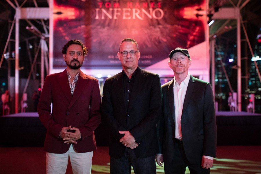 Irrfan Khan,Tom Hanks,Ron Howard,Inferno,Red Carpet for 'Inferno',Inferno red carpet in Singapore,Inferno red carpet