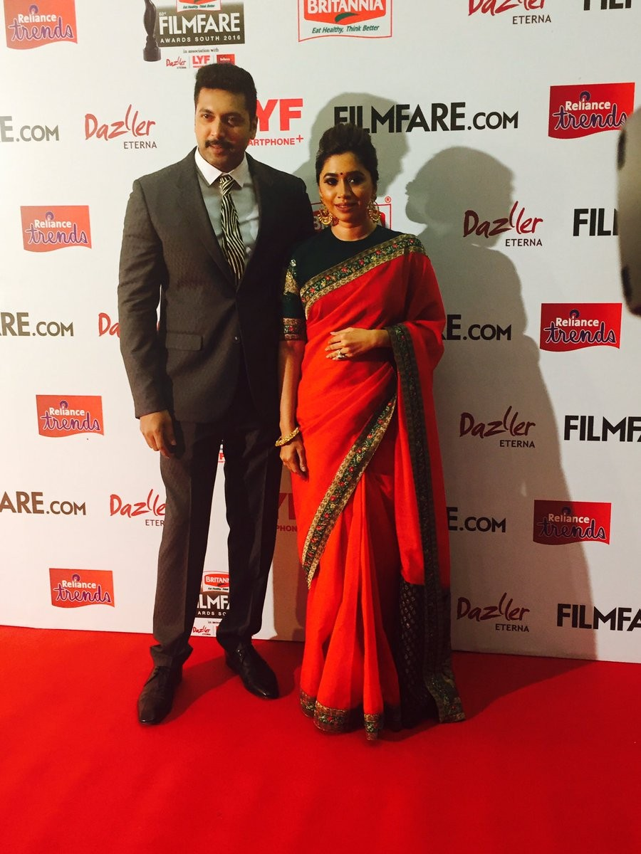 Filmfare Awards 2016,Filmfare Awards,Suriya,Jyothika,Suriya at Filmfare Awards,Jyothika at Filmfare Awards,Filmfare Awards pics,Filmfare Awards images,Filmfare Awards photos,Filmfare Awards stills,Filmfare Awards pictures,Nayanthara,Venkatesh,Jayam Ravi