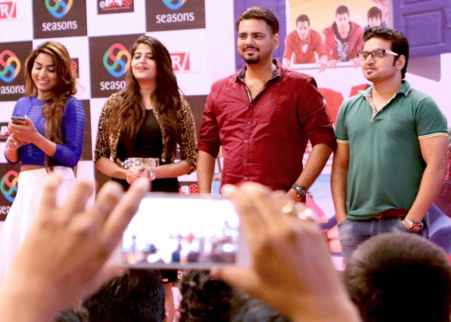 Love Ke Funday,Love Ke Funday promotion,Love Ke Funday movie promotion,Harshvardhan Joshi,Rishank Tiwari,Ritika Gulati,Shaleen Bhanot,Sufi Gulati,singer Jojo,Director Indervesh Yogee,Love Ke Funday promotion pics,Love Ke Funday promotion images,Love Ke Fu