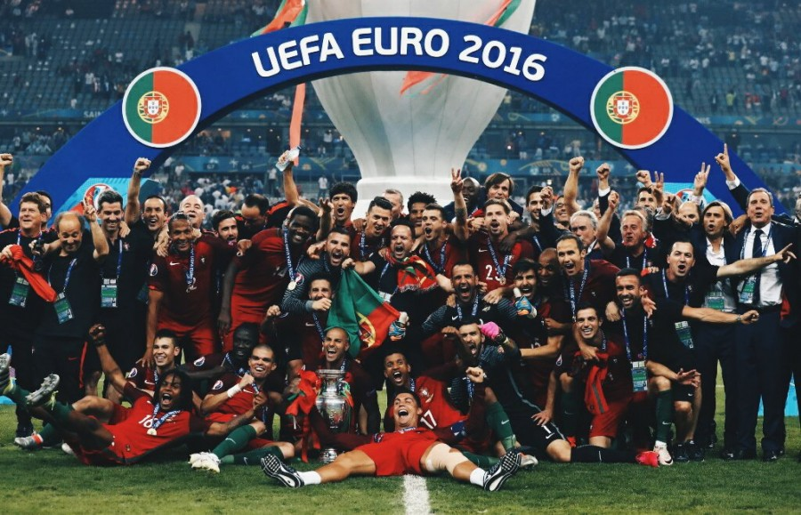 Ronaldo-less Portugal, which had never won any major soccer tournament title, upset hosts France 1-0 in the extra time of the breathtaking Euro 2016 final on Sunday night.