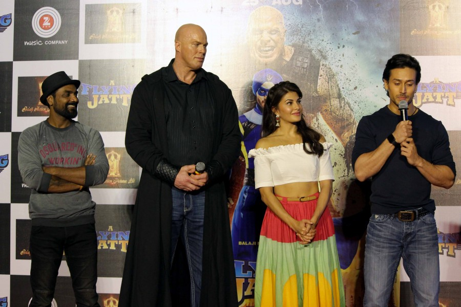 A Flying Jatt,A Flying Jatt trailer,Tiger Shroff,Jacqueline Fernandez,Nathan Jones,A Flying Jatt trailer launch,A Flying Jatt trailer launch pics,A Flying Jatt trailer launch images,A Flying Jatt trailer launch photos,A Flying Jatt trailer launch stills,A