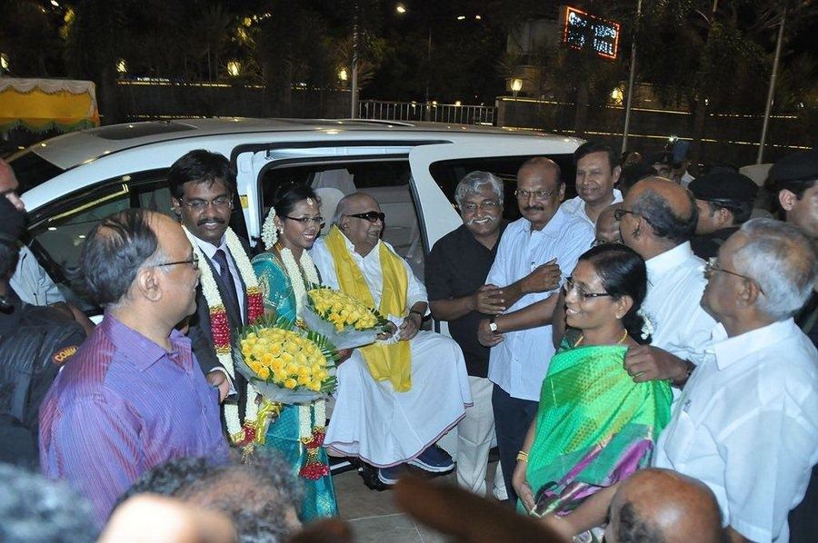 SP Muthuraman's daughter Wedding Reception photos,Rajinikanth,Karthi,Khushboo,Sivakumar,Bhagyaraj,Muthuraman's daughter marriage photos