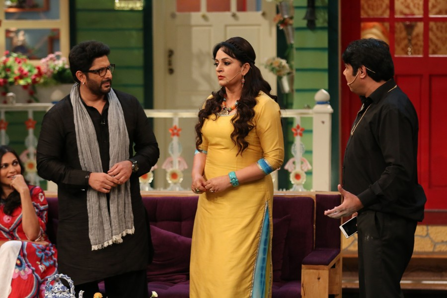 Arshad Warsi,Maria Goretti,The Kapil Sharma Show,Arshad Warsi and wife Maria Goretti,Arshad Warsi and Maria Goretti,Sony Entertainment Television,The Kapil Sharma Show on the sets