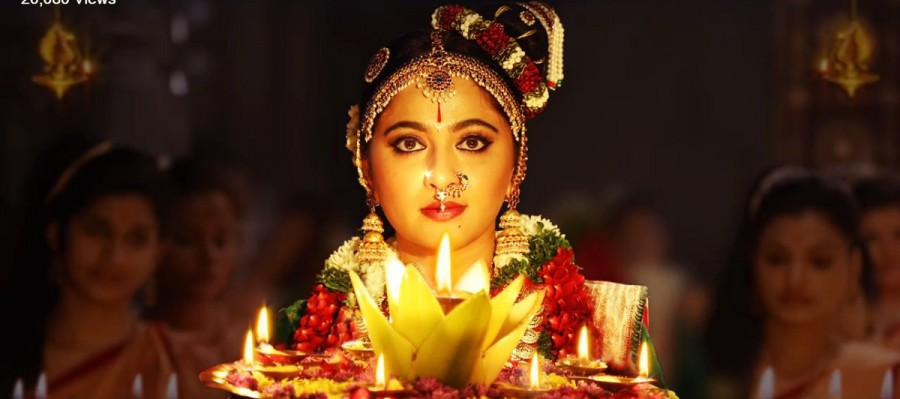 Anushka Shetty,Anushka Shetty in Om Namo Venkatesaya movie,Anushka Shetty's first look from Om Namo Venkatesaya movie,Om Namo Venkatesaya first look,Om Namo Venkatesaya first look poster,Telugu movie Om Namo Venkatesaya,Om Namo Venkatesaya pics