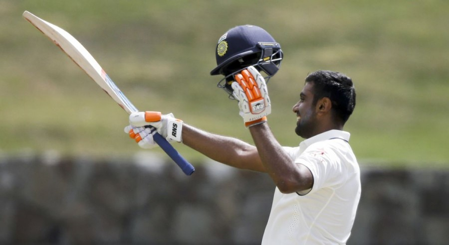 Ravichandran Ashwin,Ashwin,Ashwin hundred,Ashwin 4th hundred,India vs West Indies,Ind Vs WI,off-spinner Ravichandran Ashwin,Wriddhiman Saha