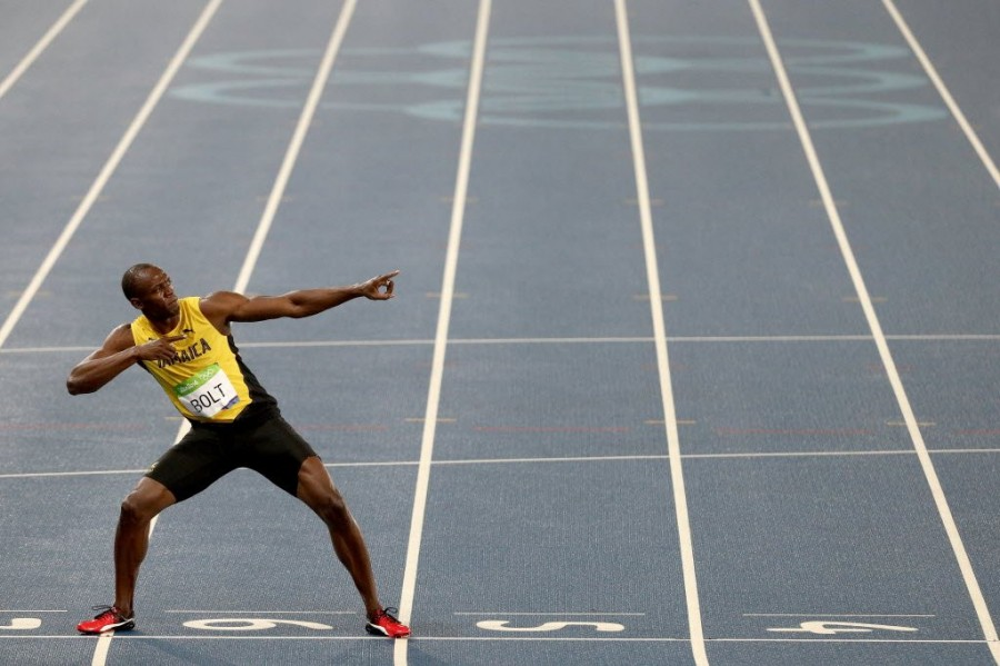 Usain Bolt,Usain Bolt wins 200m title,Rio Olympics,Usain Bolt  third consecutive Olympics title,Usain Bolt winner,Usain Bolt pics,Usain Bolt images,Usain Bolt photos,Usain Bolt stills