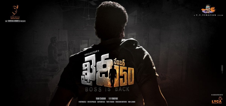 Megastar Chiranjeevi's 150th film, which is the remake of Ilayathalapathy Vijay's kaththi movie titled as Khaidi 150. The first look poster of Khaidi 150 revealed on the eve of Chiranjeevi birthday.