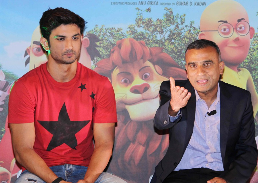 Sushant Singh Rajput,Motu Patlu - King Of Kings,Motu Patlu - King Of Kings trailer,Motu Patlu,Motu Patlu trailer,Motu Patlu trailer launch,Motu Patlu trailer launch pics,Motu Patlu trailer launch images,Motu Patlu trailer launch photos,Motu Patlu trailer