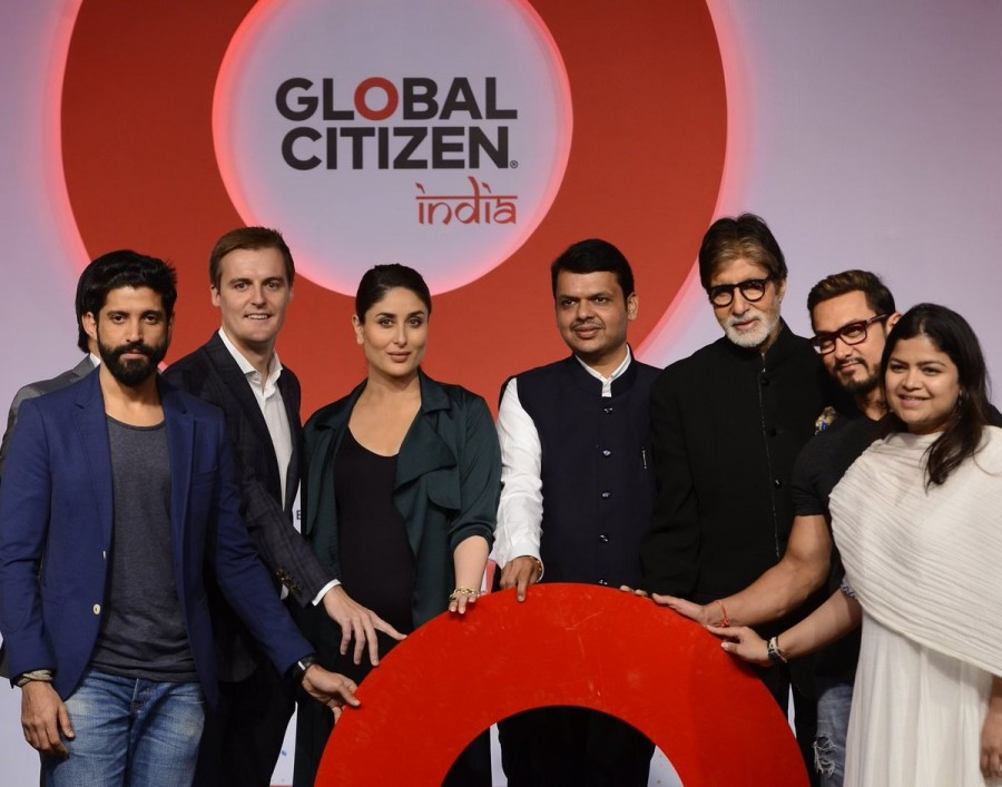 Amitabh Bachchan,Aamir Khan,Kareena Kapoor,Farhan Akhtar,Global Citizen India,Kareena Kapoor Khan