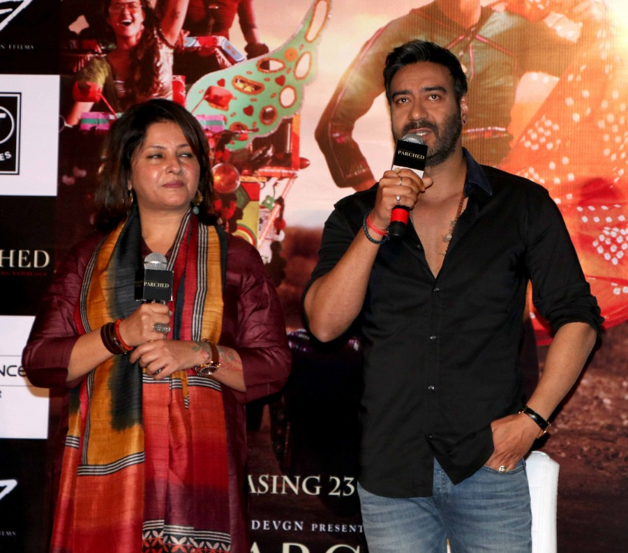 Ajay Devgan,Tannishtha Chatterjee,Lehar Khan,Parched,Parched press conference,Surveen Chawla,Parched trailer,Parched trailer launch,Parched trailer launch pics,Parched trailer launch images,Parched trailer launch photos,Parched trailer launch stills,Parch
