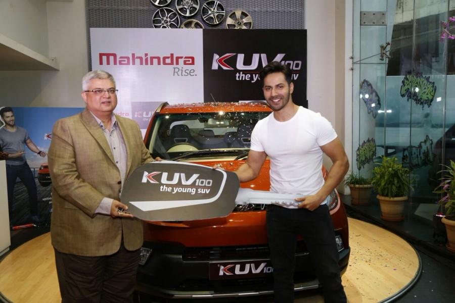 Varun Dhawan,Varun Dhawan gets Mahindra KUV 100,Mahindra KUV 100,KUV 100