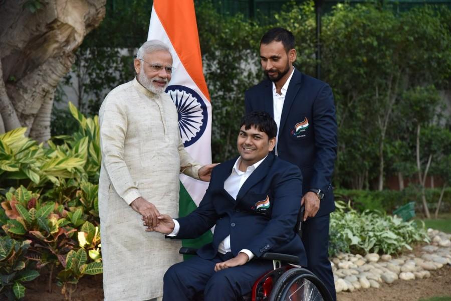 PM Narendra Modi meets India's Rio Paralympics medallists.