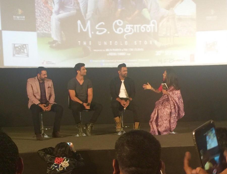 Dhoni,M.S. Dhoni,MS Dhoni,M.S. Dhoni: The Untold Story,Dhoni in Chennai,MS Dhoni in Chennai,Dhoni promotes M.S. Dhoni movie,Sushant Singh Rajput,Mahendra Singh Dhoni