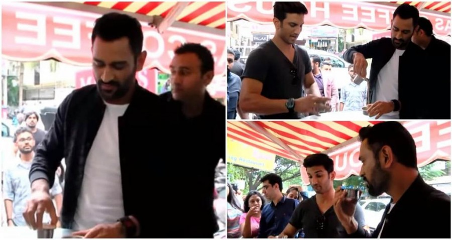 MS Dhoni,MS Dhoni in Chennai,MS Dhoni filter coffee,Sushant Singh Rajput,MS Dhoni and Sushant Singh Rajput,Dhoni and Sushant Singh Rajput,Dhoni and Sushant