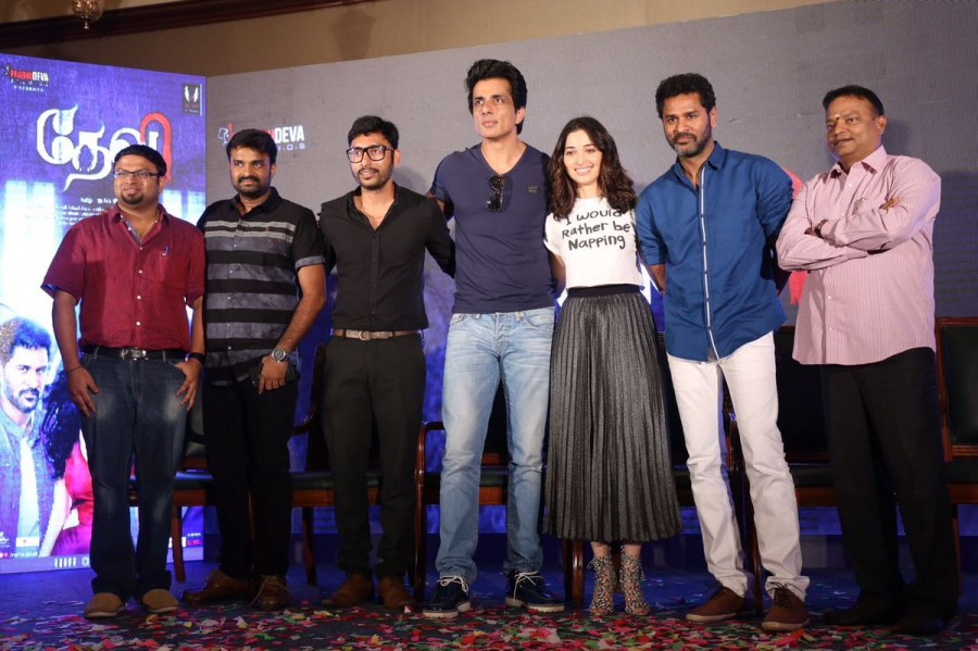 Devi audio launch,Devi music launch,Devi press meet,Prabhu Deva,Sonu Sood,Tamannaah,AL Vijay,RJ Balaji,Shiyam Jack,Devi audio launch pics,Devi audio launch images,Devi audio launch photos,Devi audio launch stills,Devi audio launch pictures