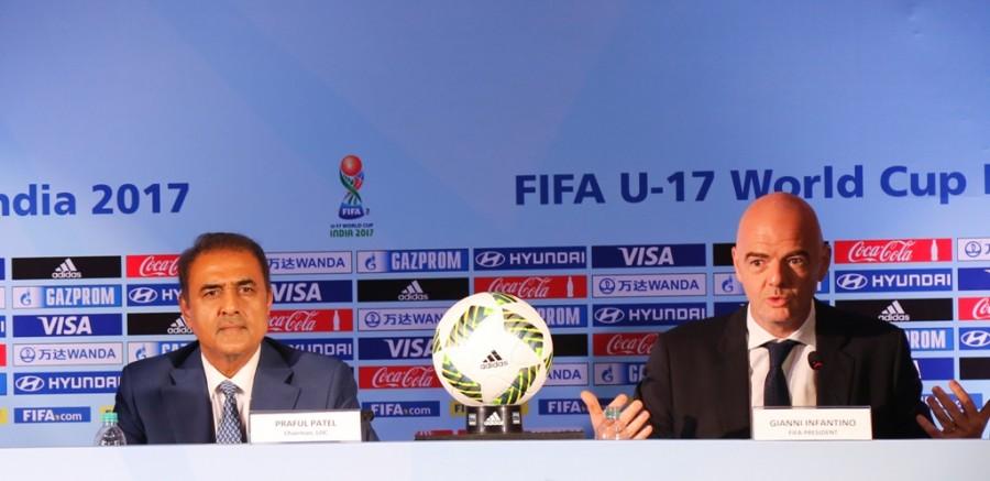 FIFA President Gianni Infantino,Gianni Infantino,passionate giant of football,Indian Foitball,FIFA President,Mr. Gianni Infantino,Praful Patel