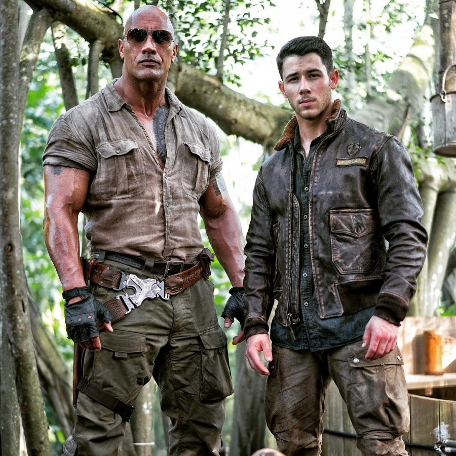 Dwayne Johnson,The Rock,Nick Jonas,Nick Jonas in Jumanji,Jumanji,Jumanji first look,Jumanji first look poster,Jumanji poster,Jumanji stills,Jumanji pics,Jumanji images,Jumanji photos,Jumanji pictures