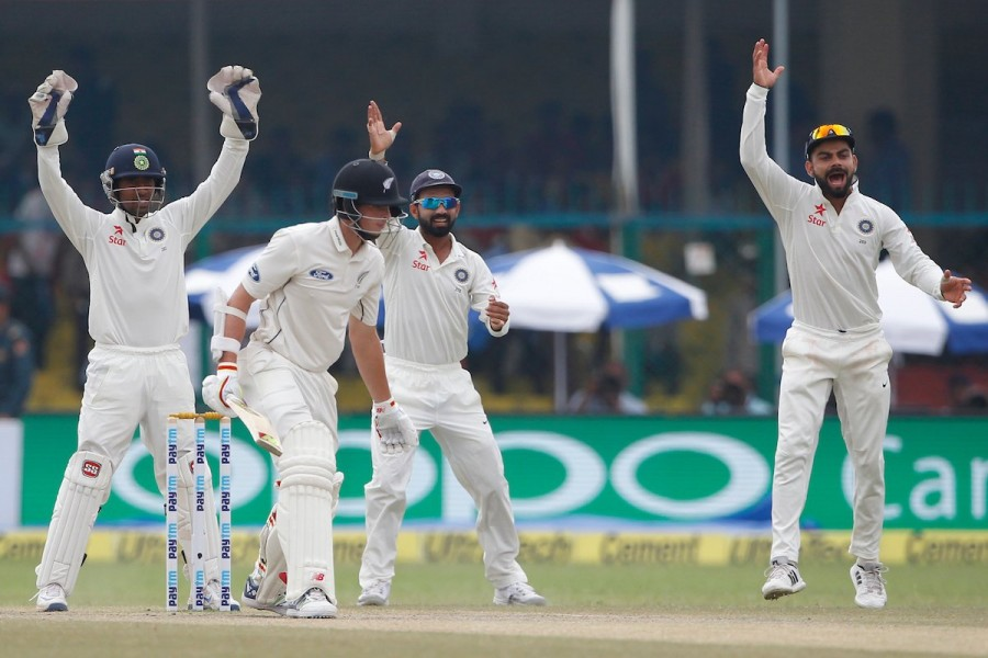 Ravichandran Ashwin and Ravindra Jadeja spun India to an unassailable 2-0 lead and the No.1 ranking in Tests, pinning New Zealand down in a riveting see-saw four-day affair, to win the second cricket Test by 178 runs here on Monday. Local boy Wriddhiman Saha was adjudged Man of the Match for his unconquered 54 and 58 in the two Indian innings at the Eden Gardens.