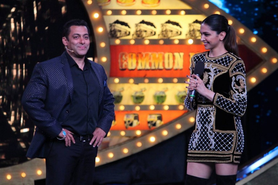 Deepika Padukone,Deepika Padukone and Salman Khan,Deepika Padukone with Salman Khan,Salman Khan and Deepika Padukone,Salman Khan with Deepika Padukone,Deepika Padukone at Bigg Boss 10,Bigg Boss 10,xXx: The Return of Xander Cage,xXx: The Return of Xander C