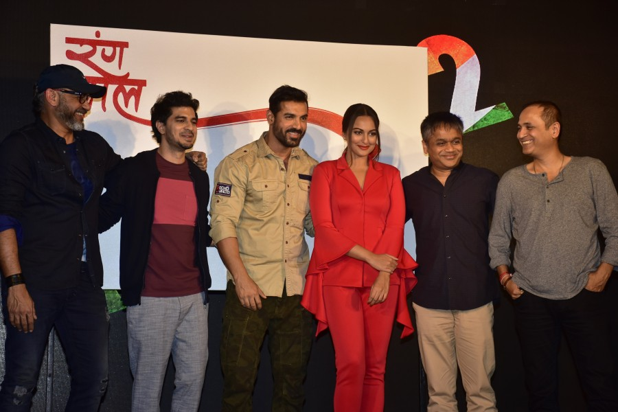John Abraham,Sonakshi Sinha,Tahir Bhasin,Rang Lal,Rang Lal song launch,Rang Lal song,Force 2,bollywood movie Force 2,Rang Lal music launch,Rang Lal video