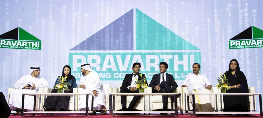 Shah Rukh Khan,Pravarthi Building Contracting LLC's headquarters inauguration,Actor Shah Rukh Khan,Pravarthi Building