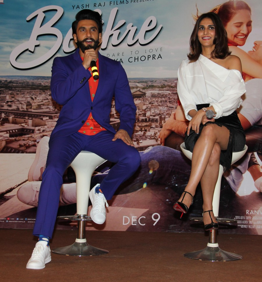 Ranveer Singh,Vaani Kapoor,Ranveer Singh and Vaani Kapoor,Befikre song launch,Befikre song,Befikre songs,Befikre song launch pics,Befikre song launch images,Befikre song launch photos,Befikre song launch stills,Befikre song launch pictures