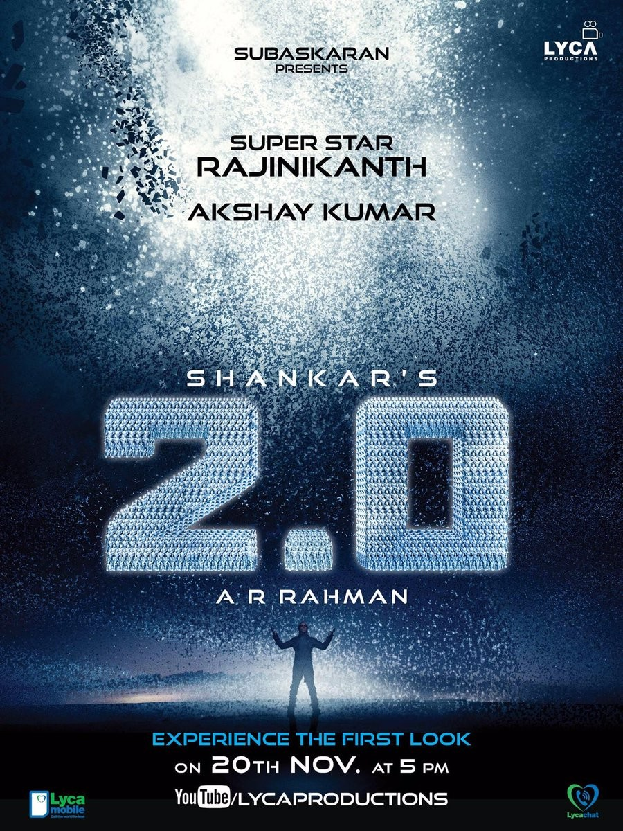 Rajinikanth,Akshay Kumar,Amy Jackson,Enthiran 2 first look poster,Enthiran 2 first look,Enthiran 2 poster,Enthiran 2,2.0,2.0 first look,2.0 first look poster,2.0 poster