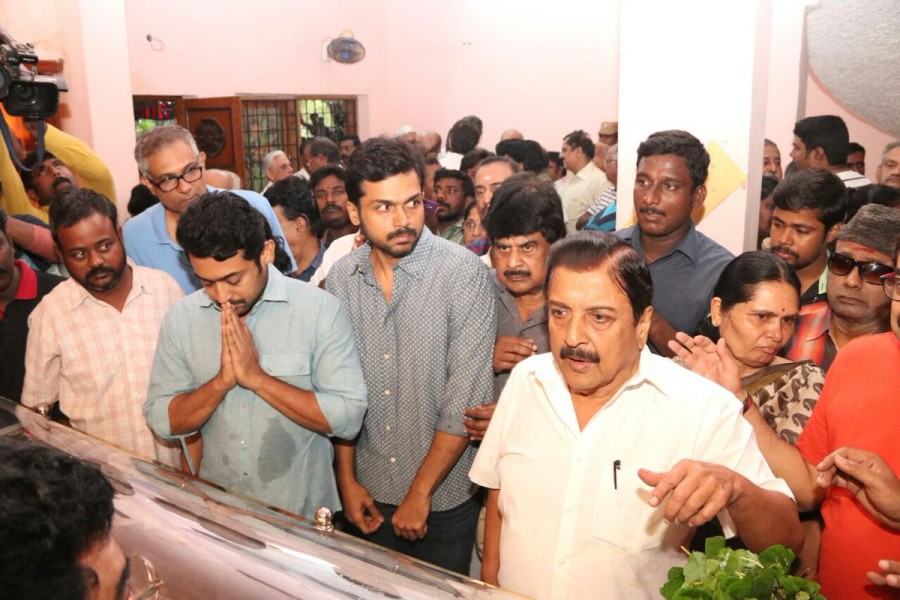 Rajinikanth,Suriya,Rajinikanth pays last respect to Cho Ramaswamy,Suriya pays last respect to Cho Ramaswamy,Cho Ramaswamy,Cho Ramaswamy dead,cho ramaswamy passes away,cho ramaswamy death,cho ramaswamy died