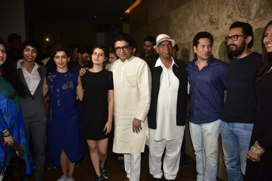 Aamir Khan,Raj Thackeray,Sachin Tendulkar,Anil Kapoor,Dangal special screening,Dangal,Dangal movie special screening,Dangal special screening pics,Dangal special screening images,Dangal special screening photos,Dangal special screening stills,Dangal speci