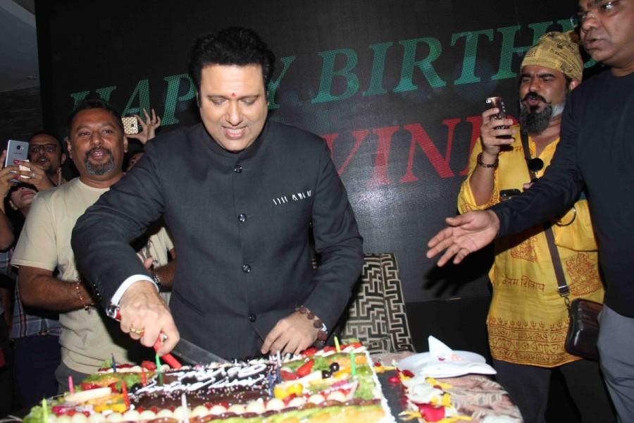 Govinda,actor Govinda,Govinda 53rd birthday,Govinda birthday,Govinda birthday celebrations,Govinda birthday celebrations with Media,AA Gaya Hero,Govinda celebrates his 53rd birthday