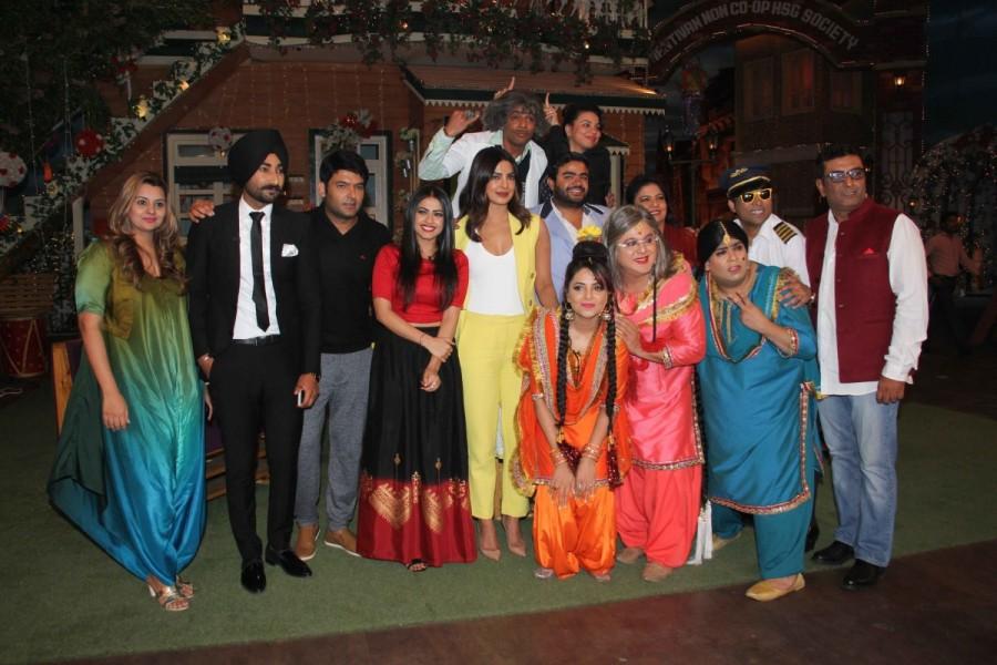 Priyanka Chopra,Ranjit Bawa,Punjabi film Sarvann,Sarvann,Sarvann promotion,Sarvann movie promotion,The Kapil Sharma Show,filmmaker Karaan Guliani,Karaan Guliani,Simi Chahal